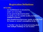 registration definitions