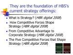 they are the foundation of hbs s current strategy offerings