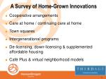 a survey of home grown innovations