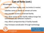 care at home cont