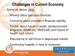 challenges in current economy
