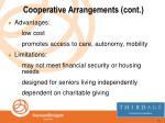 cooperative arrangements cont14