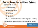 current senior care and living options4
