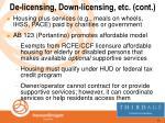 de licensing down licensing etc cont29