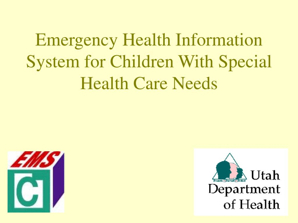 emergency health information system for children with special health care needs l.