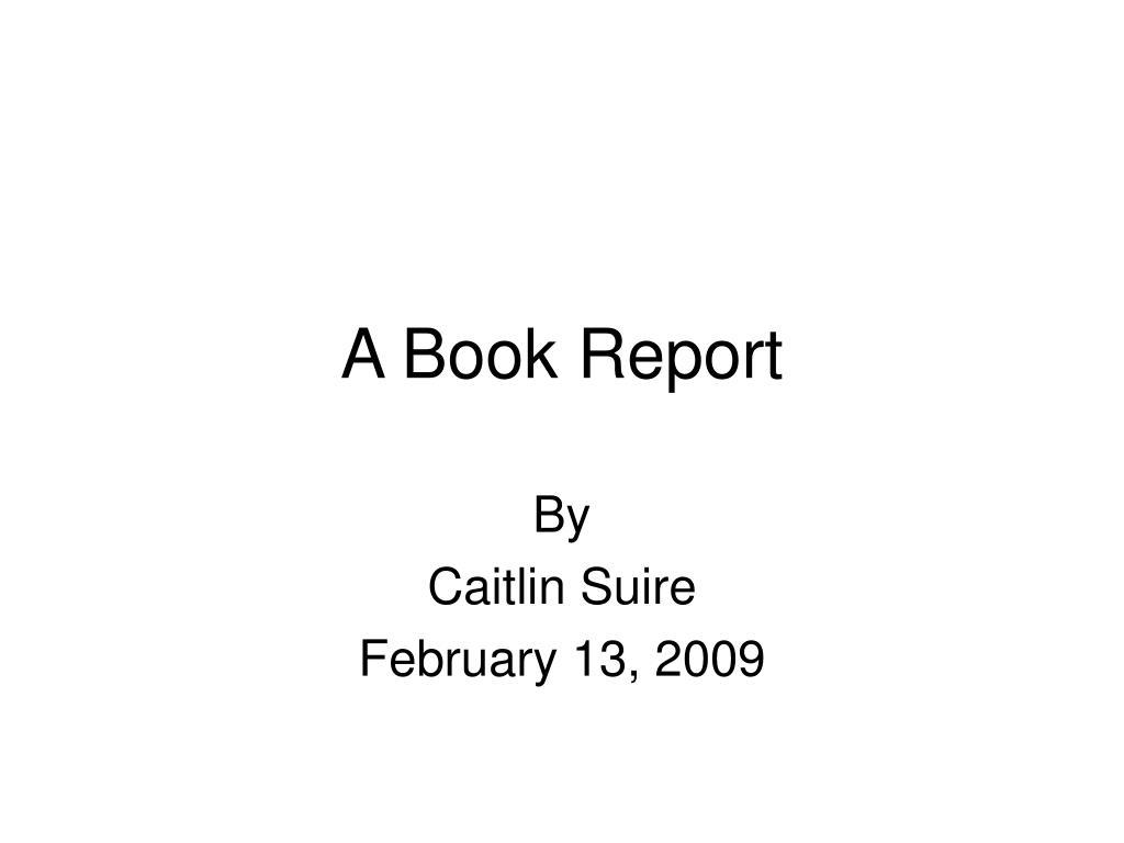 a book report l.