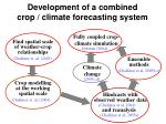development of a combined crop climate forecasting system