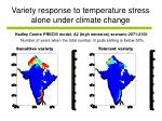 variety response to temperature stress alone under climate change