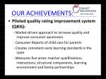 our achievements13