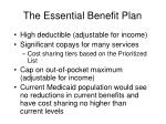 the essential benefit plan
