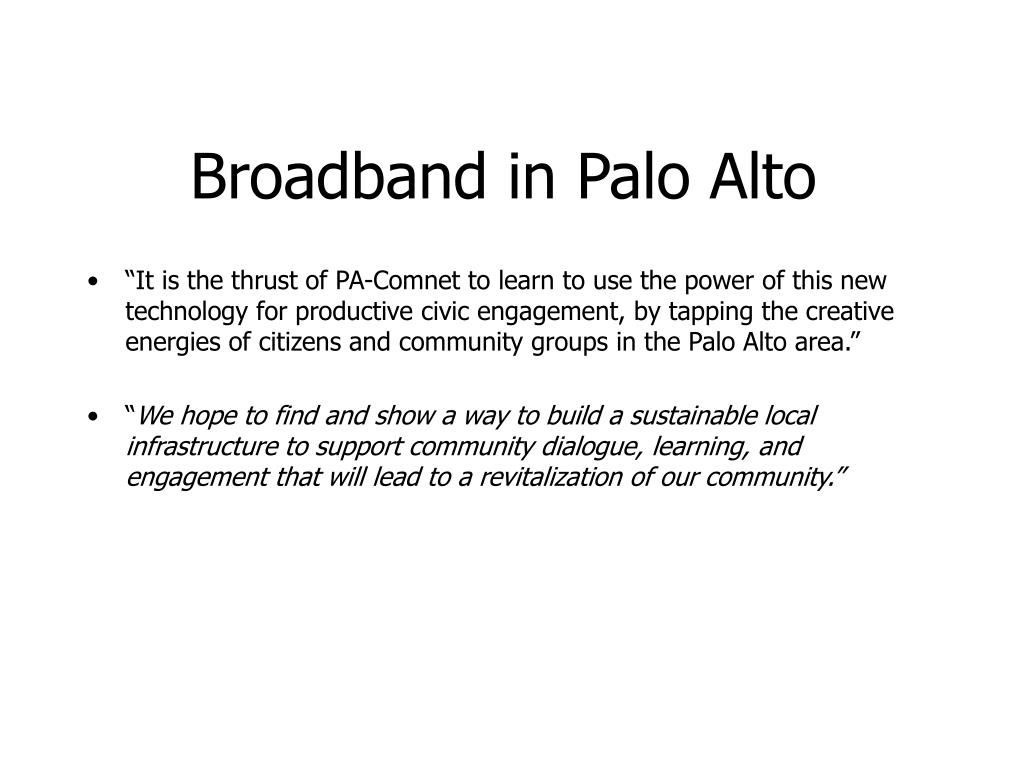 broadband in palo alto l.