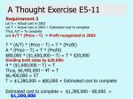 a thought exercise e5 1131