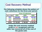 cost recovery method50