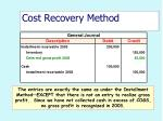 cost recovery method51