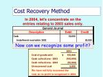 cost recovery method52