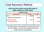 cost recovery method53