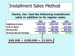 installment sales method40