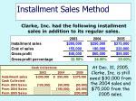 installment sales method41