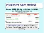 installment sales method42