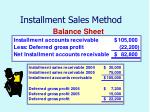 installment sales method48