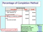percentage of completion method13