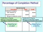 percentage of completion method14