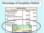 percentage of completion method15