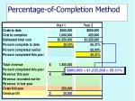 percentage of completion method17