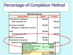 percentage of completion method22