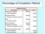 percentage of completion method26