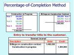 percentage of completion method27