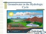 groundwater in the hydrologic cycle