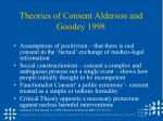 theories of consent alderson and goodey 1998