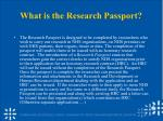 what is the research passport