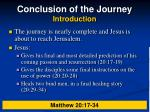 conclusion of the journey introduction