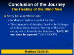conclusion of the journey the healing of the blind men33
