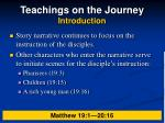 teachings on the journey introduction9