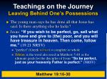 teachings on the journey leaving behind one s possessions20