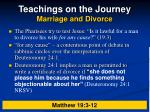 teachings on the journey marriage and divorce
