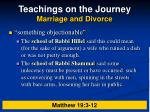 teachings on the journey marriage and divorce11