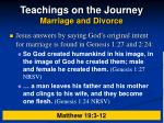 teachings on the journey marriage and divorce12