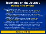 teachings on the journey marriage and divorce14
