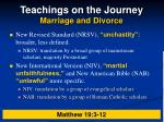 teachings on the journey marriage and divorce15