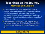 teachings on the journey marriage and divorce16