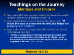 teachings on the journey marriage and divorce17