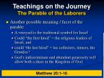 teachings on the journey the parable of the laborers26
