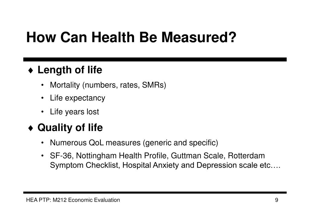 How Can Health Be Measured?