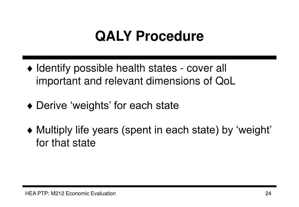 QALY Procedure