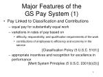 major features of the gs pay system 1