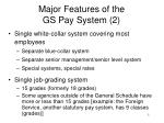 major features of the gs pay system 2